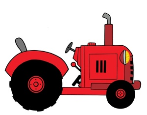 Red tractor clipart clipart panda free clipart images for Tractor art projects