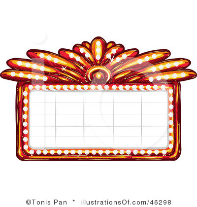 Movie theater clipart black and white clipart panda for Theatre sign clipart