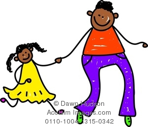 Father and Daughter Cartoon