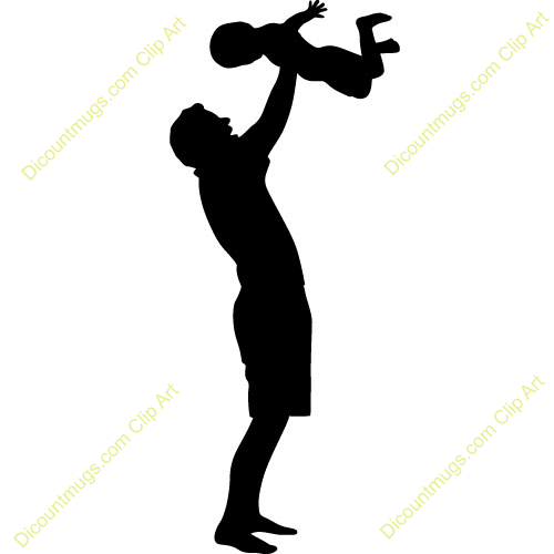 Cake Topper Silhouette Baby