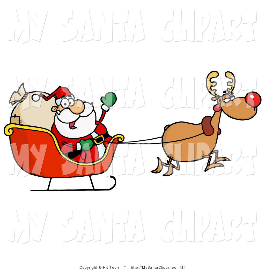 ... -art-of-a-tired-rudolph-flying-santa-in-his-sleigh-by-hit-toon-34.jpg