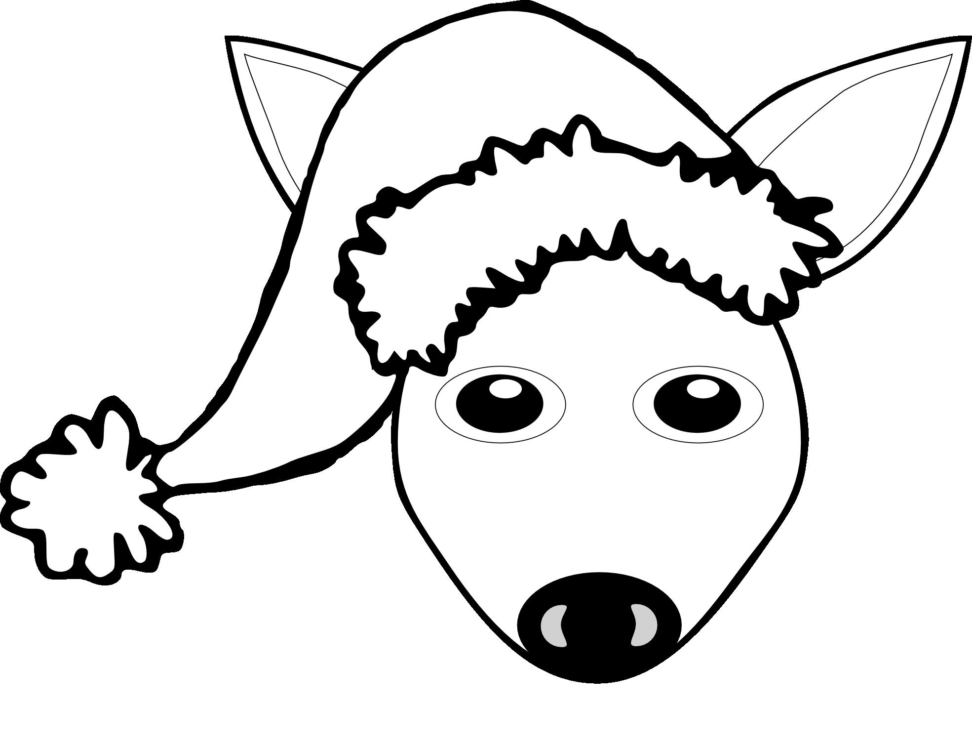 Line Drawing Of Animal Faces : Novella clipart panda free images