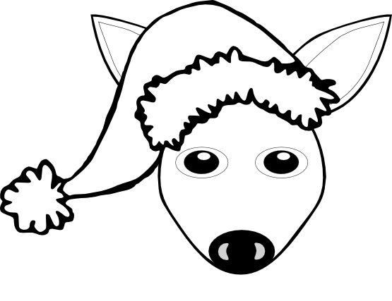Fawn clipart black and white panda free