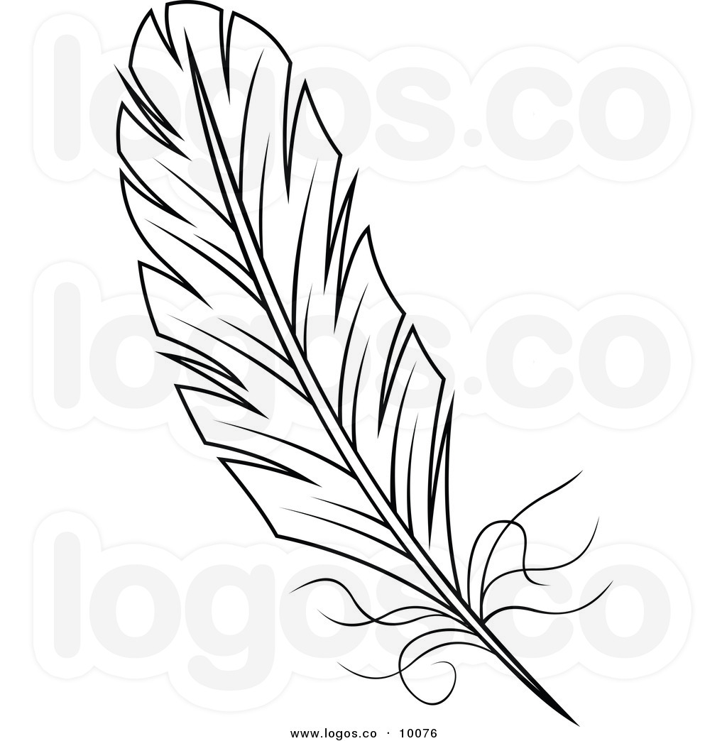 Line Art Feather : Feather clipart panda free images