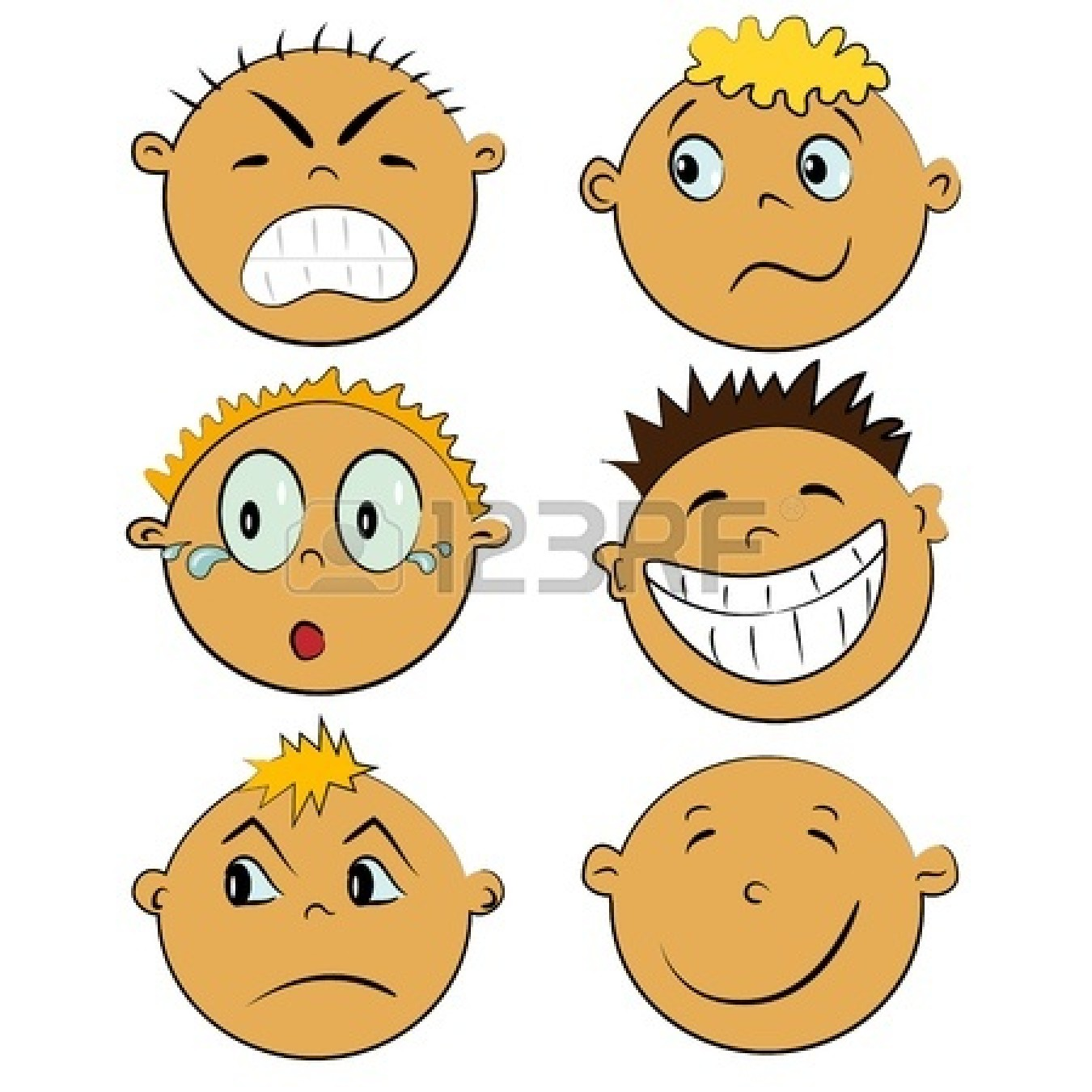 Faces Clip Art Emotions Emotion clipart
