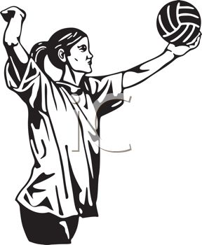 Volleyball Player Clipart Black And White | Clipart Panda - Free ...
