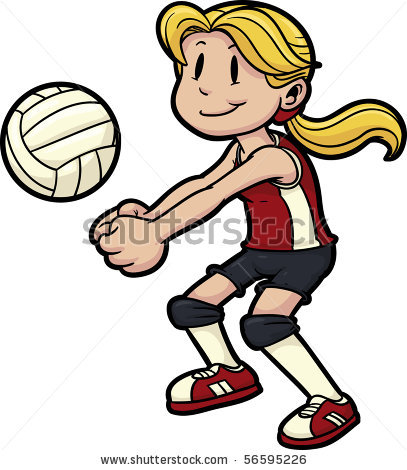 Girl playing volleyball. | Clipart Panda - Free Clipart Images