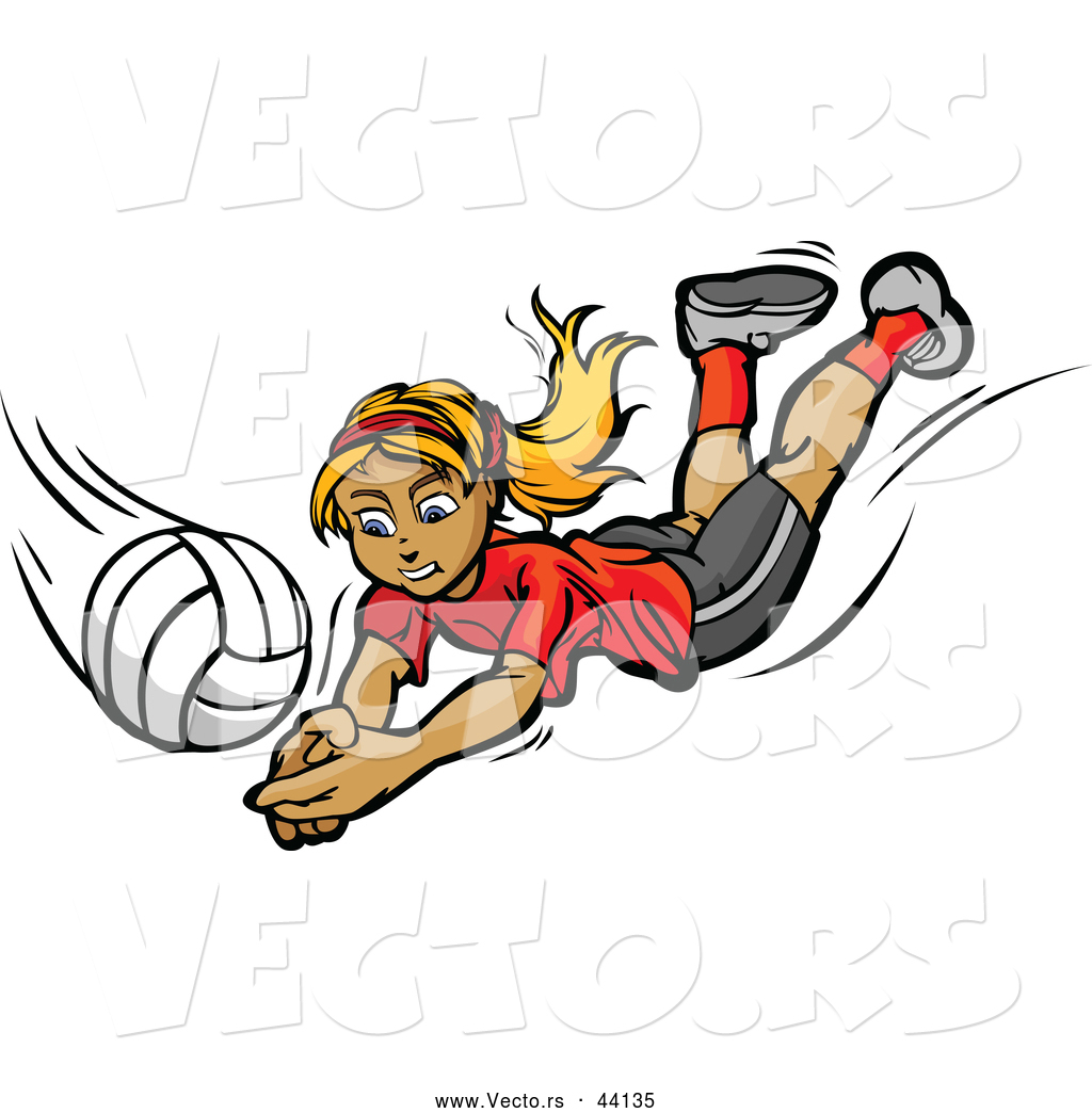 Volleyball cartoon