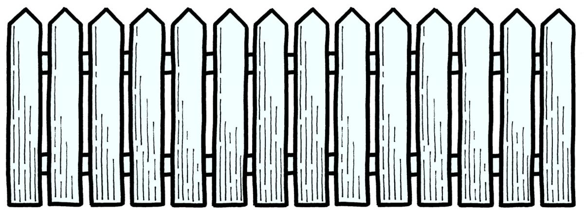 Fence clip art black and white clipart panda free