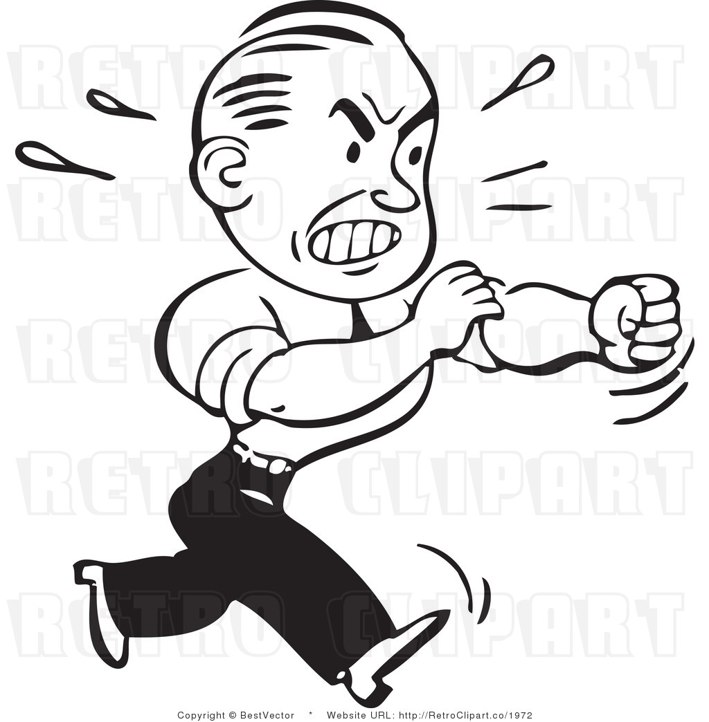 Angry Person Clip Art Black and White