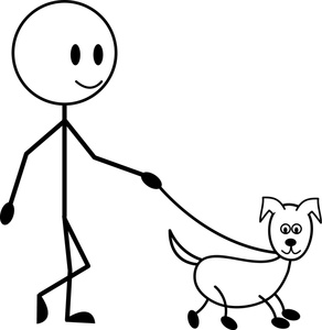 Walking Your Dog Stick Man