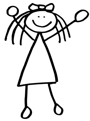 Clip Art Stick People Clipart girl clipart stick figure panda free images