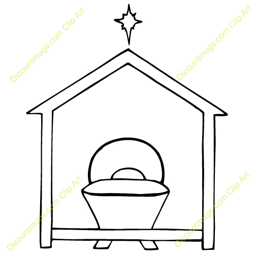 empty manger coloring pages - photo#16