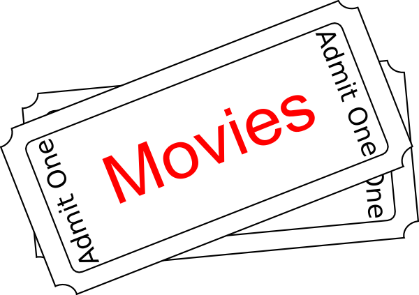 Movie Ticket Clipart Black And White | Clipart Panda - Free Clipart ...