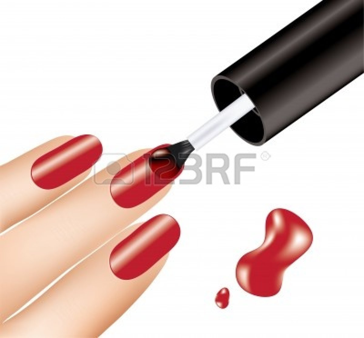 Vector Hand Painting Nails