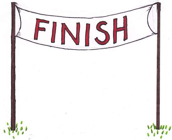 Finish Line Banner Mothers
