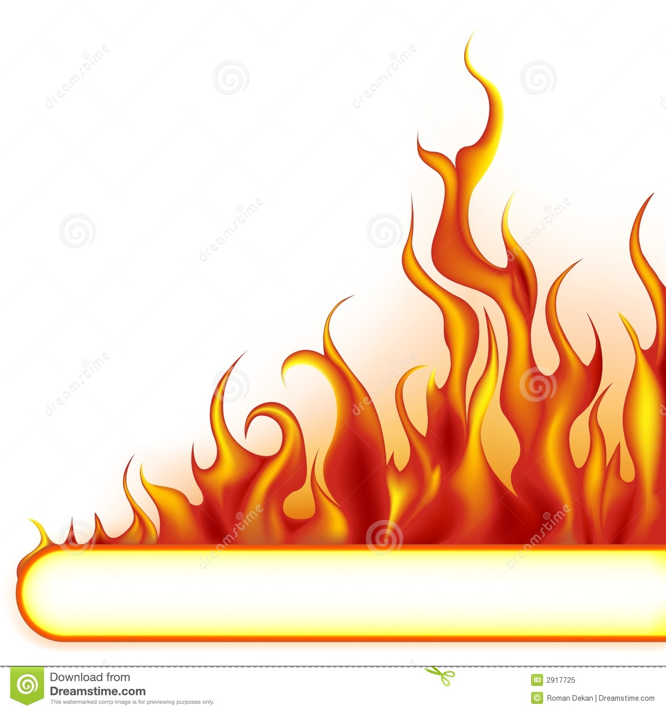 Fire Border With White Background | Clipart Panda - Free ...