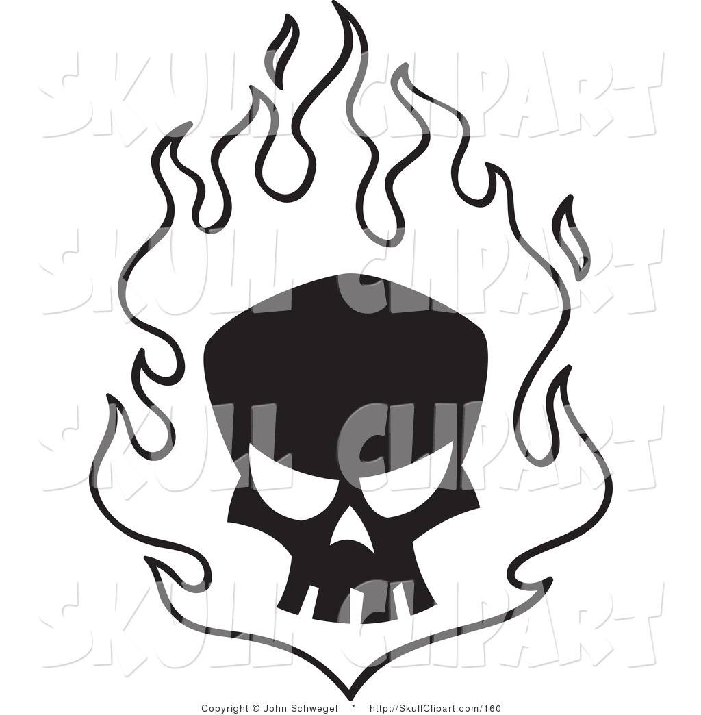 Flame Clipart Black And White