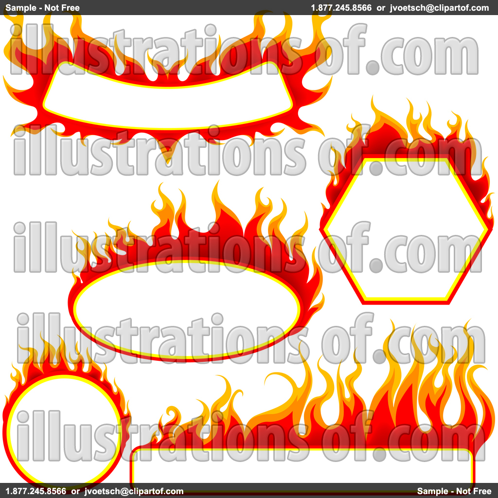 Flames white background border flame border w pictures to pin on - Fire 20clipart 20border
