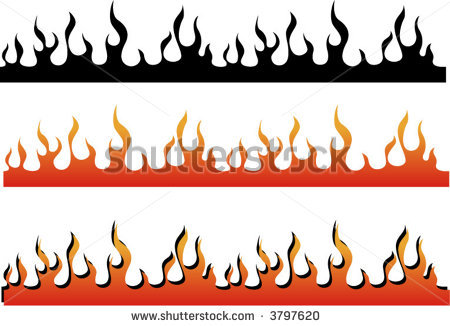 Flame Border Clipart on Letter Projects