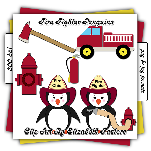 Penguin Firefighter Clip Art | Clipart Panda - Free Clipart Images