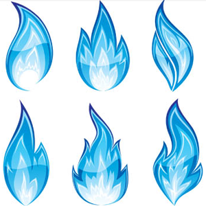 how to make blue flames