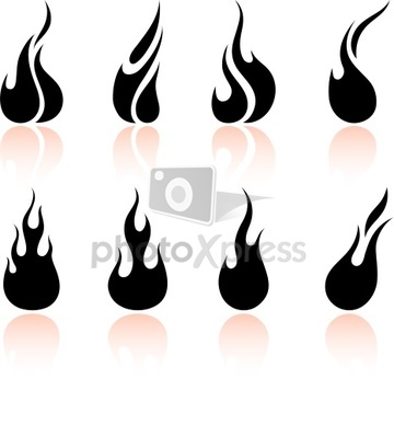 fire flame black and white | Clipart Panda - Free Clipart Images