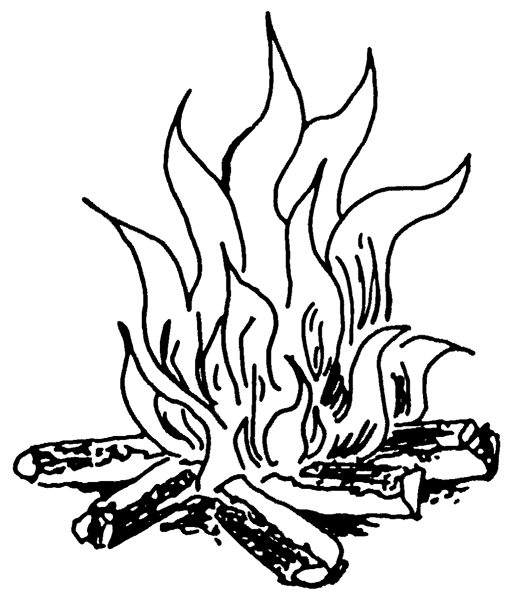 Line Drawing Fire : Fire flames black and white clipart panda free
