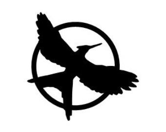 Mockingjay Logo Black And White Mockingjay Symbol Blac...