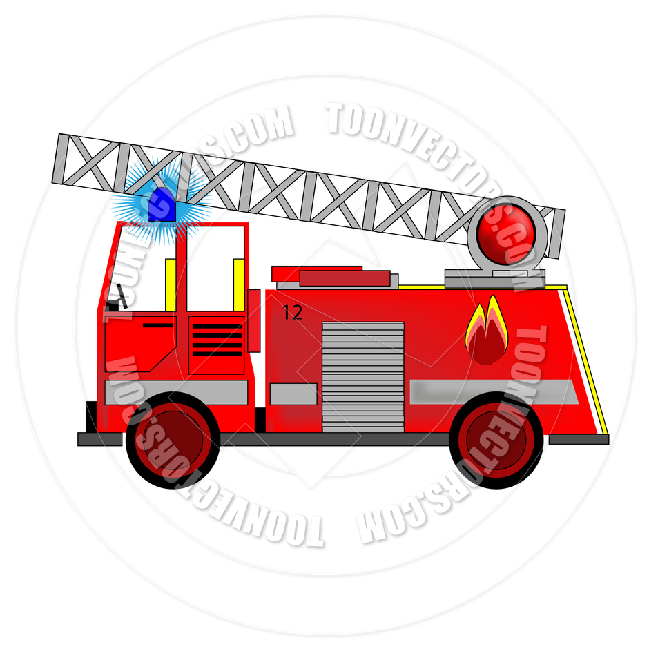 Cartoon Fire Engine