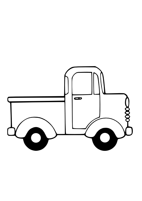 Pickup Truck Clipart Black And White | Clipart Panda - Free Clipart ...