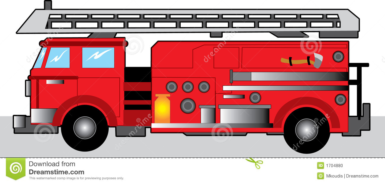 Firetruck Clipart Black And White | Clipart Panda - Free ...