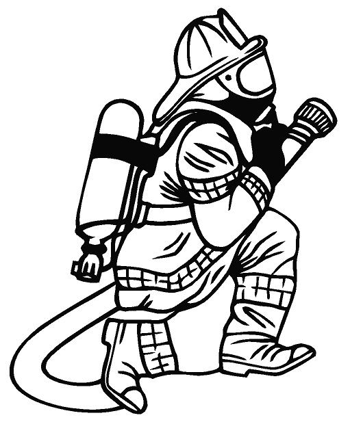 Firefighter Clip Art Black And White | Clipart Panda ...