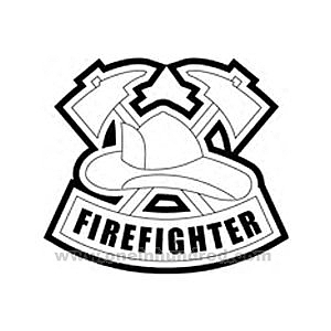 firefighter hat coloring page | clipart panda - free clipart images - Firefighter Badges Coloring Pages