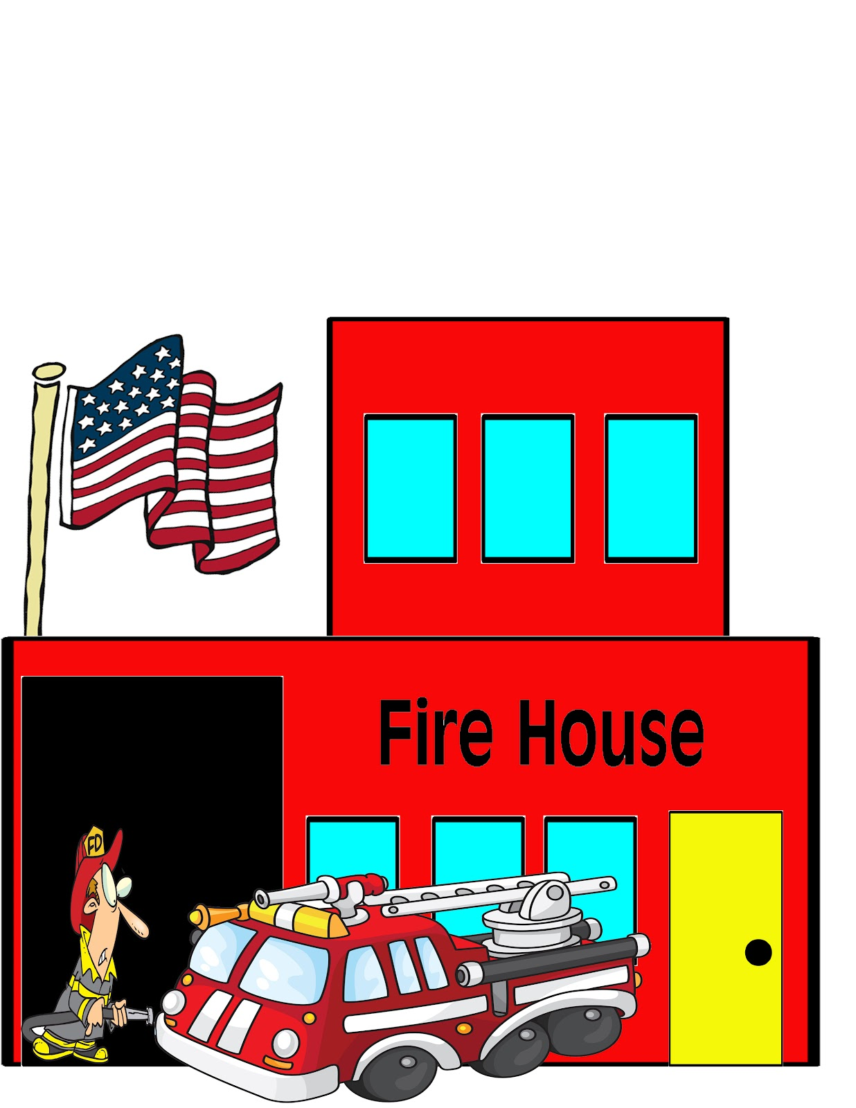 Firehouse 20clipart | Clipart Panda - Free Clipart Images