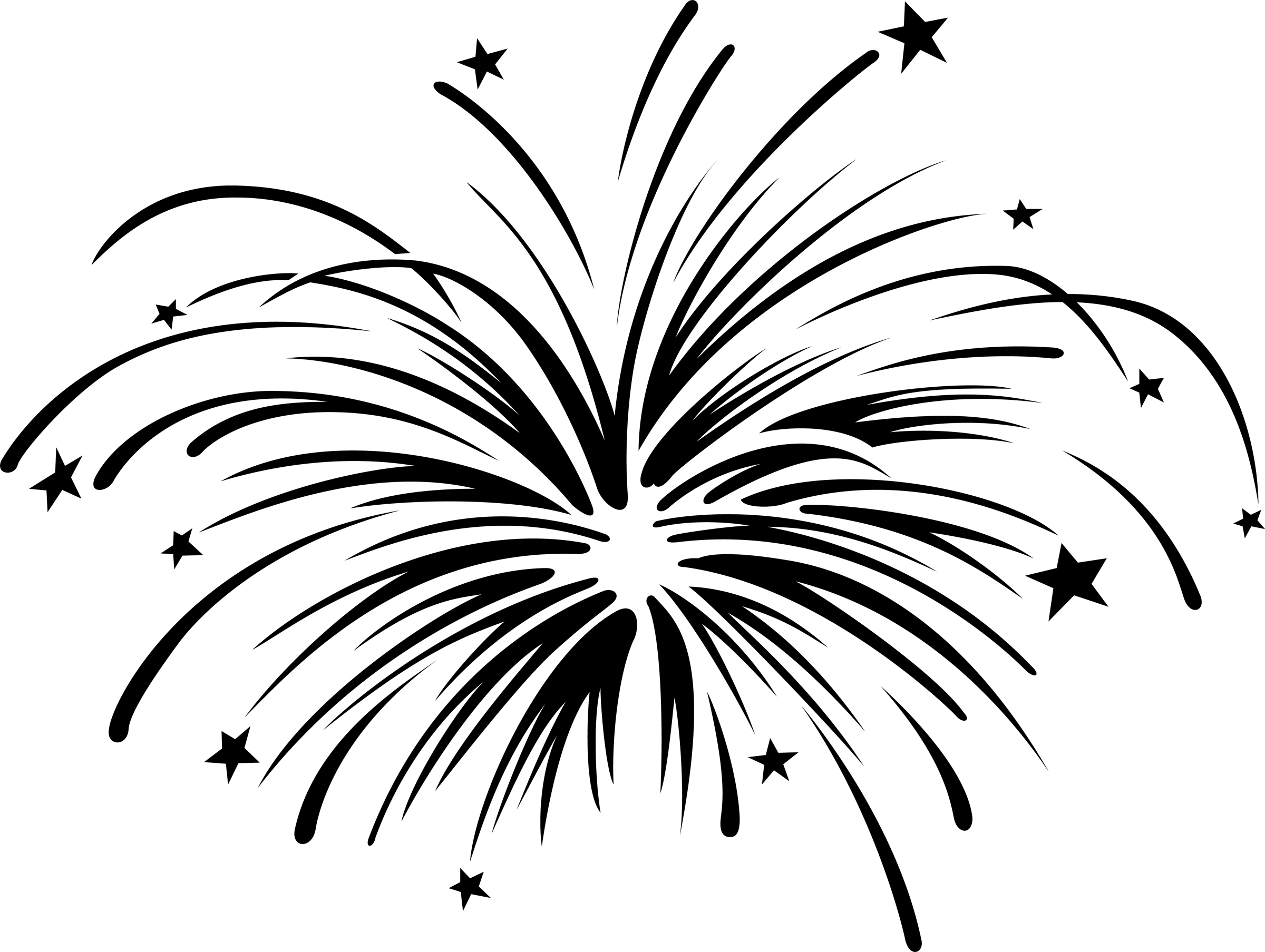 Drawing Lines Year : Fireworks clipart black and white panda free