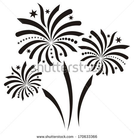 Fireworks Black And White Clipart Panda Free Clipart