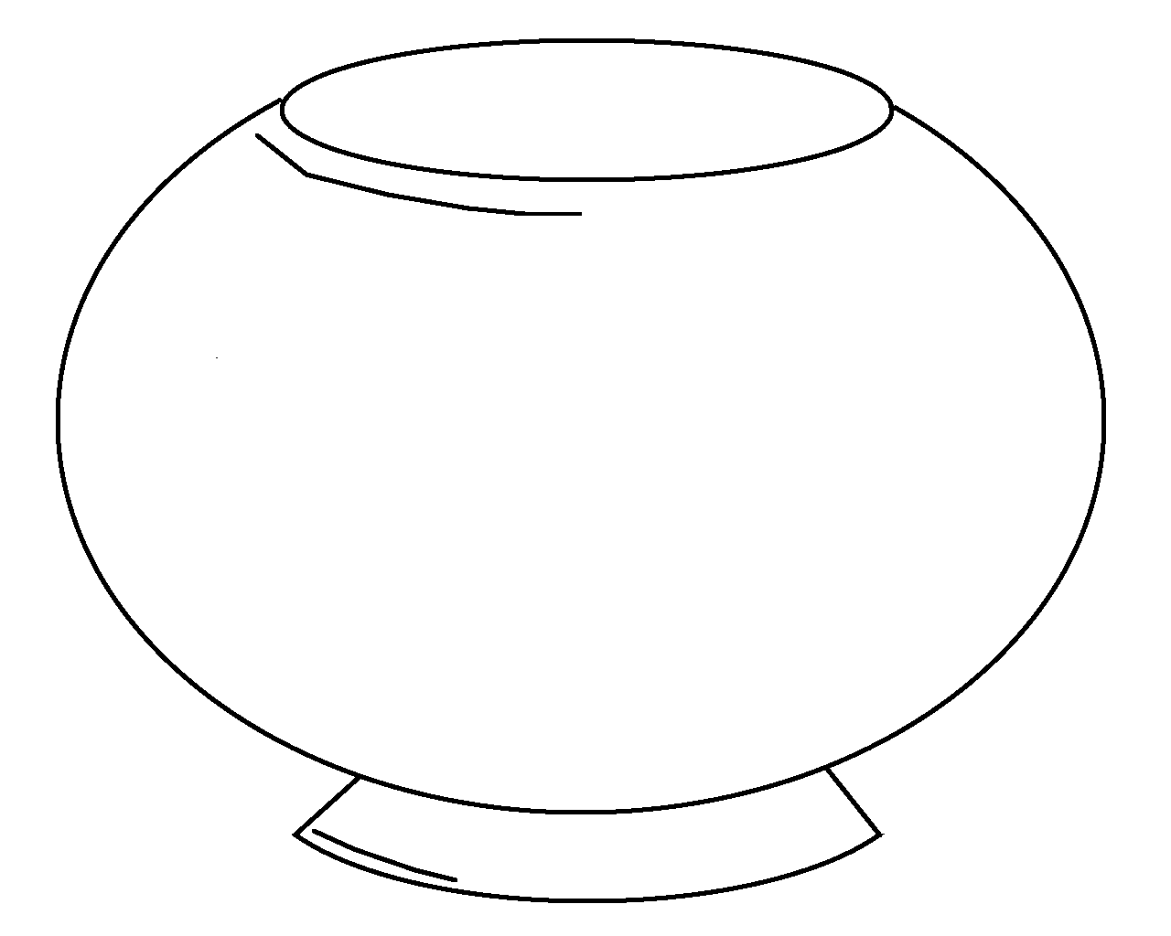 Number 8 Clipart Black And White fish 20bowl 20clipart 20black