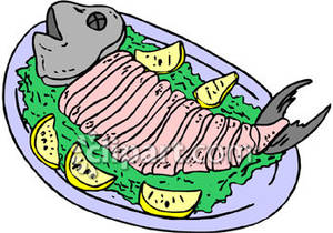 A Fish Fillet on a Plate | Clipart Panda - Free Clipart Images