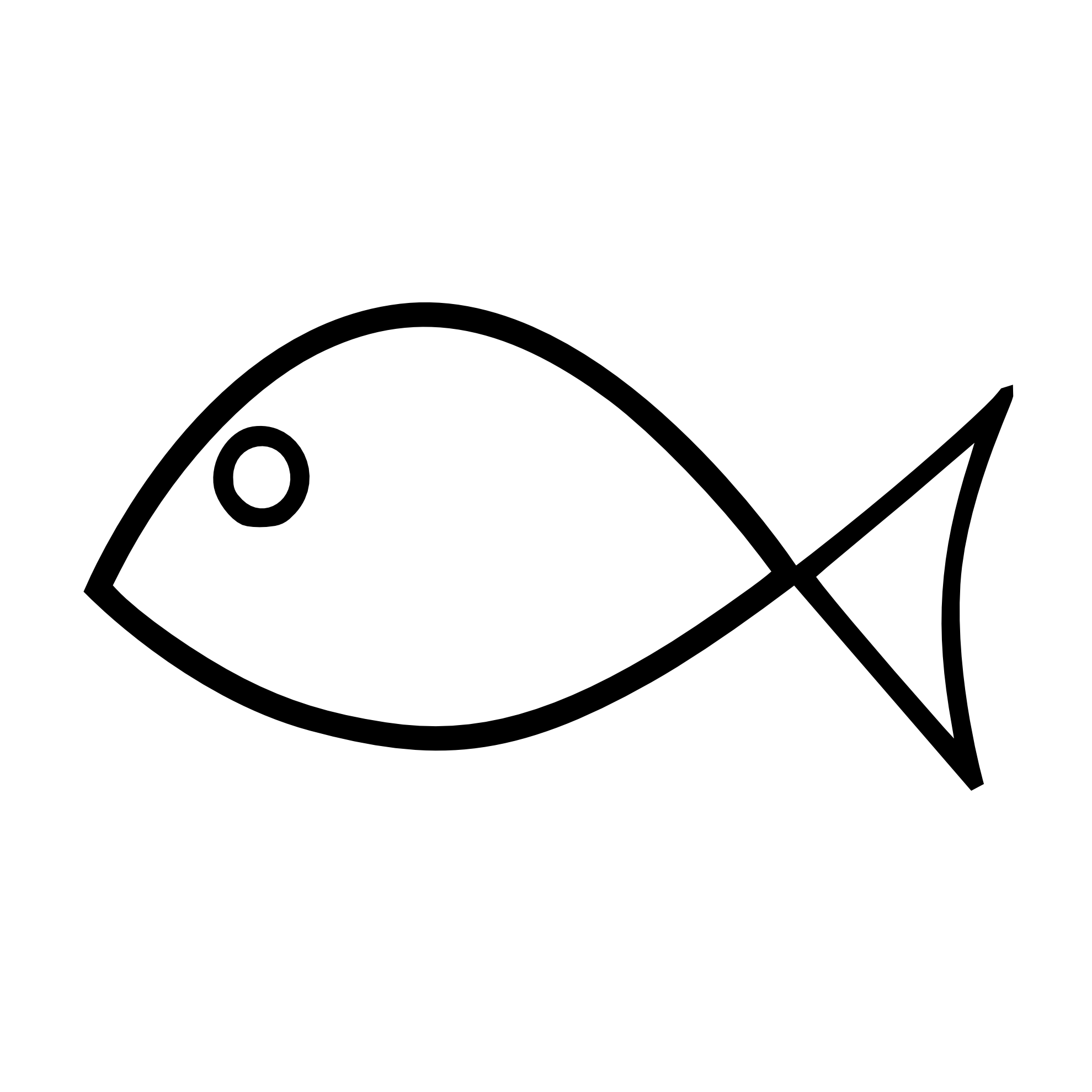 Line Drawing Of Fish : Fish outline clipart black and white panda