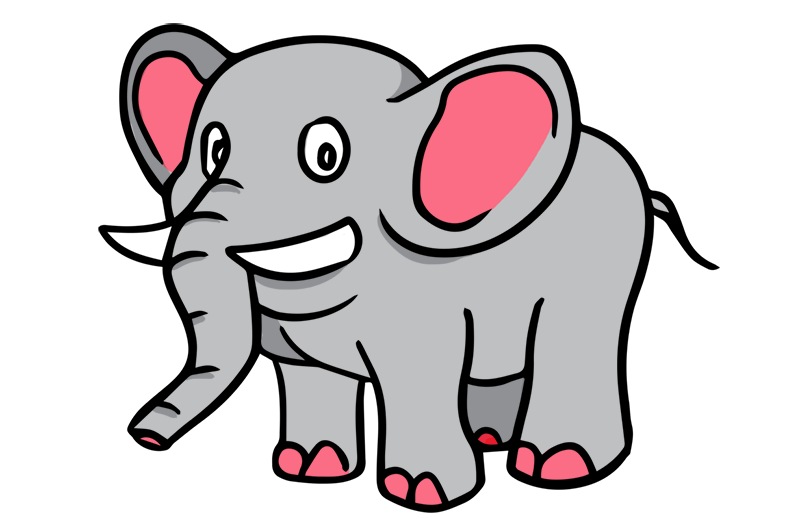 Free Clipart Of An Elephant