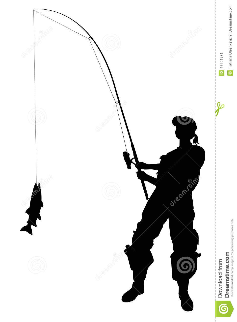 Fisher Woman With A Catching Clipart Panda Free Clipart Images