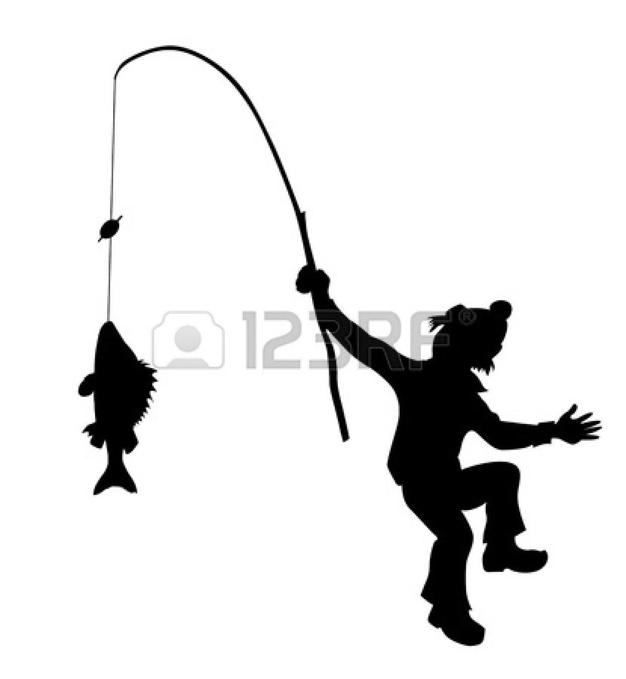Black And White Fishing Silhouette Pictures to Pin on ...