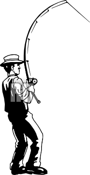 Fishing Pole Clipart Black And White | Clipart Panda ...