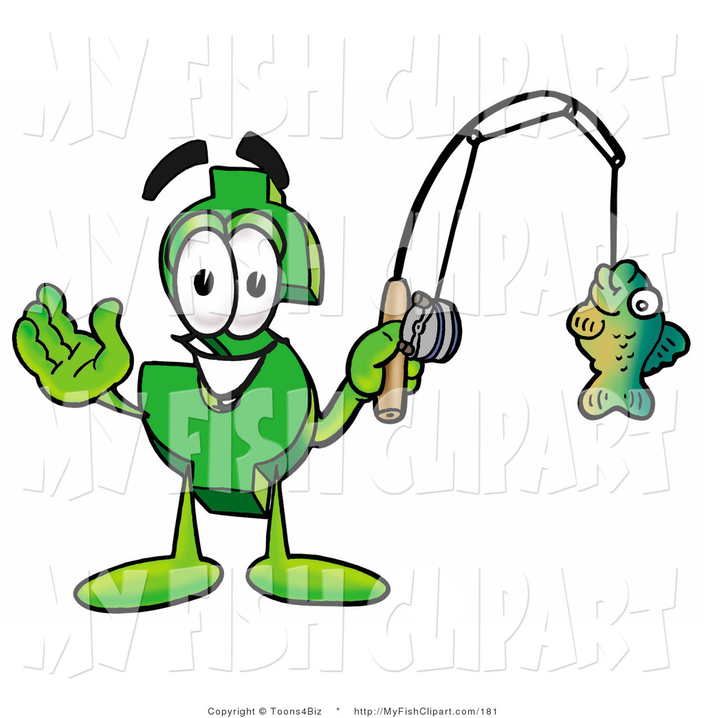 A fish on a fishing pole clipart panda free clipart images for Batman fishing pole