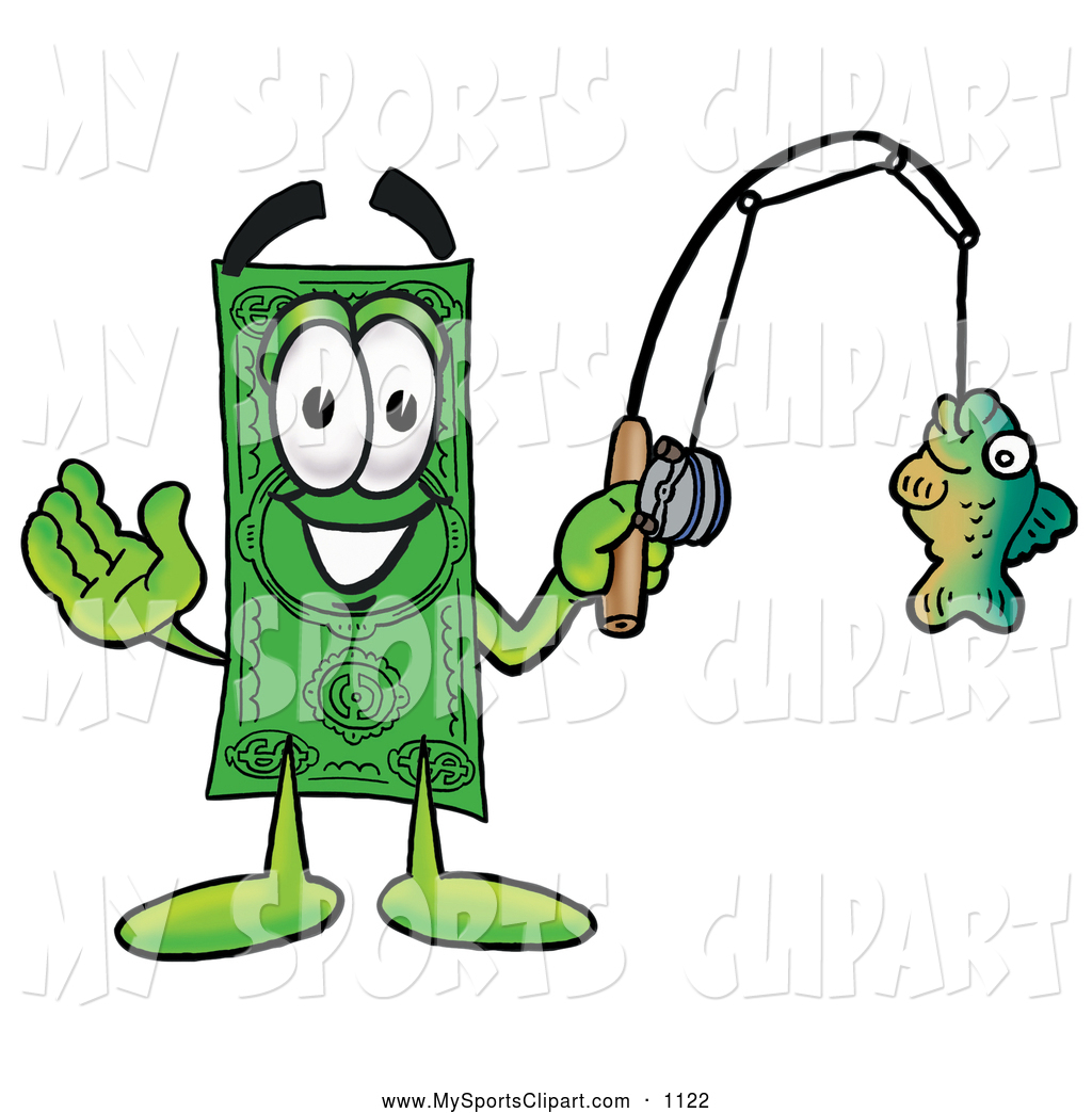 Fishing pole with fish clipart clipart panda free for Fish for cash