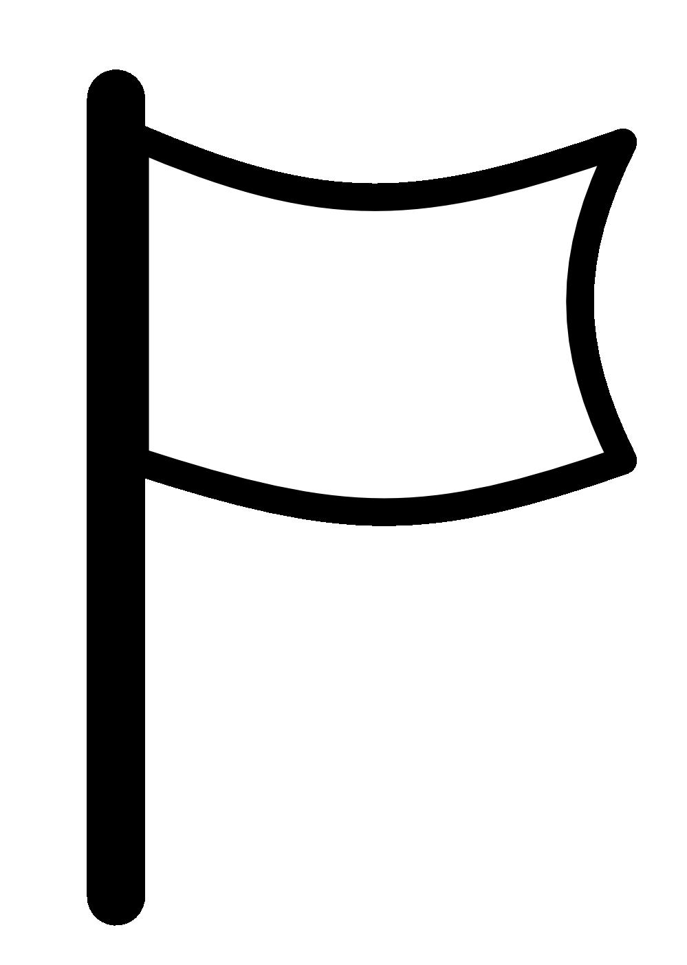 Flag outline. Clip art free black