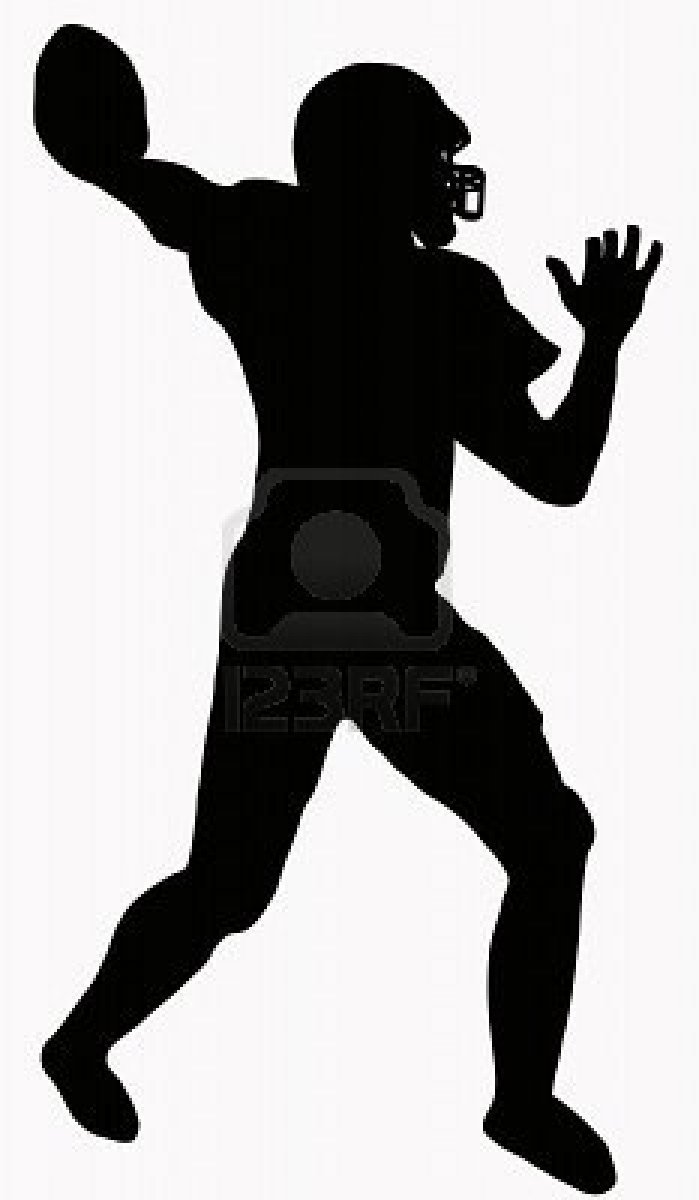 flag 20football 20silhouette american football player silhouette
