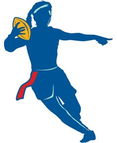 flag football silhouette clipart panda free clipart images rh clipartpanda com flag football clipart free flag football player clipart