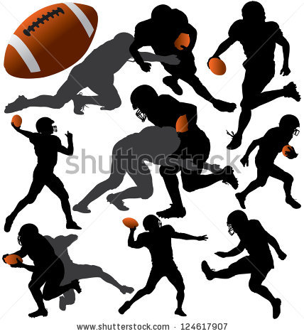Flag Football Silhouette | Clipart Panda - Free Clipart Images